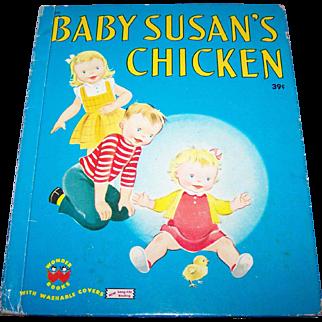 """Children's Hard Cover Wonder Book """" Baby Susan's Chicken """" by Jean Horton Berg"""