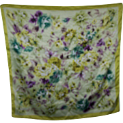 Lovely Large Designer Signed SantaMaria Silk Floral Pattern Ladies Fashion Scarf