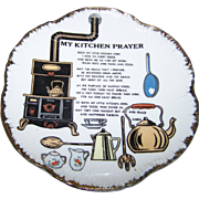 Charming Vintage Ceramic Home  Decor Wall Hanging Plate Kitchen Prayer