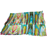 Color and Cheerful   Long Rectangular Polyester Crinkle Chiffon Fashion Scarf