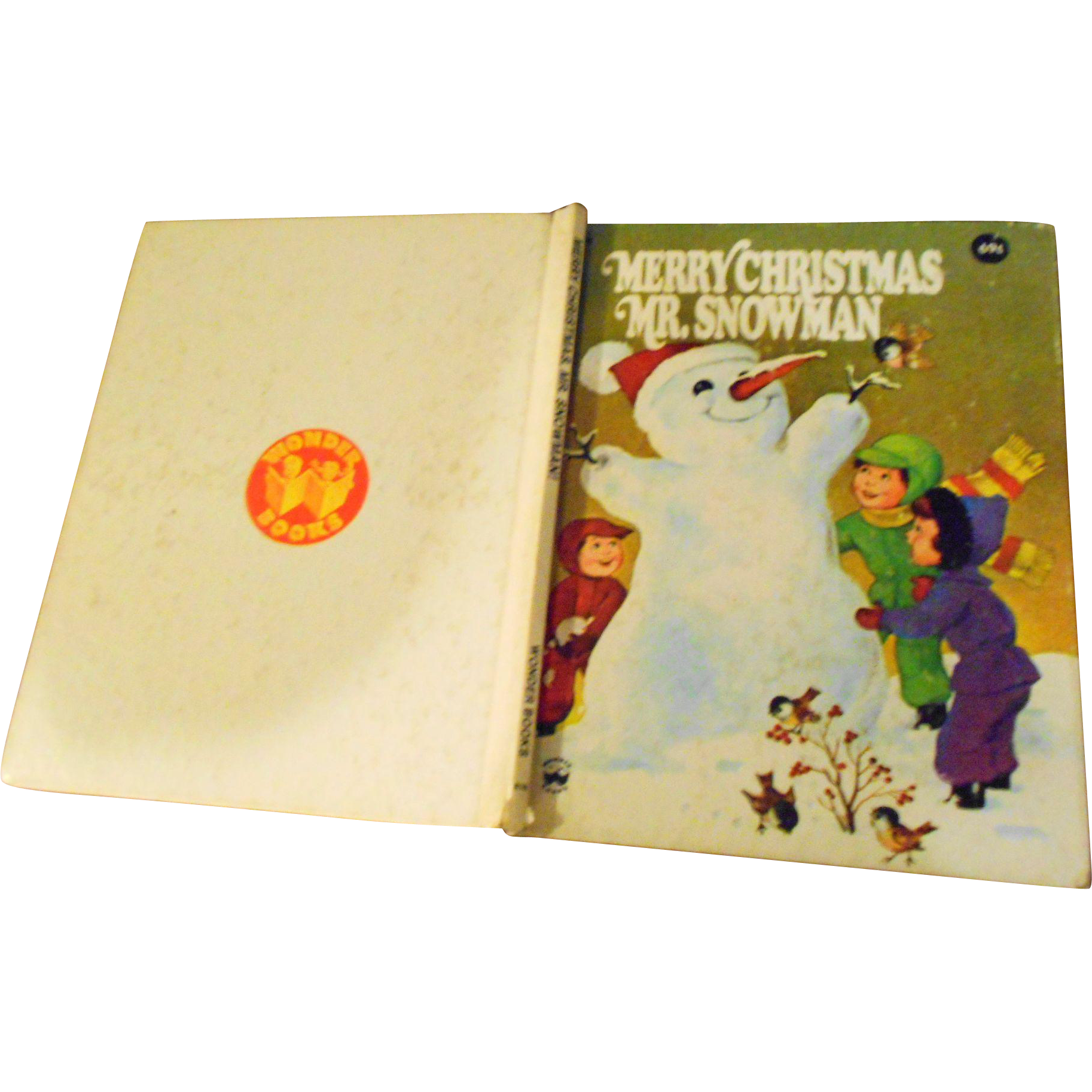 "Children's Hard Cover Book "" Merry Christmas  Mr. Snowman """