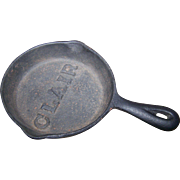 Vintage Miniature Cast Iron Advertising  Skillet Fry Pan Embossed CLAIR