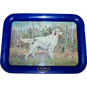 A Vintage Tin Litho Metalware Serving Tray Irish Setter Dog by Ole Larsen