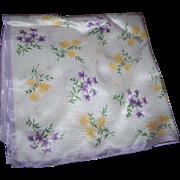 Delicate Small Pretty Ladies Silk Fashion Scarf Flower Pattern