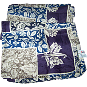 Lovely Long Rectangular Talbots 100% Silk Scarf Made in Italy Floral Flower Themed Pattern