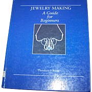 "Vintage Hard Cover Ex School Library Book "" Jewelry Making "" A Guide for Beginners Theodore P. Foote"