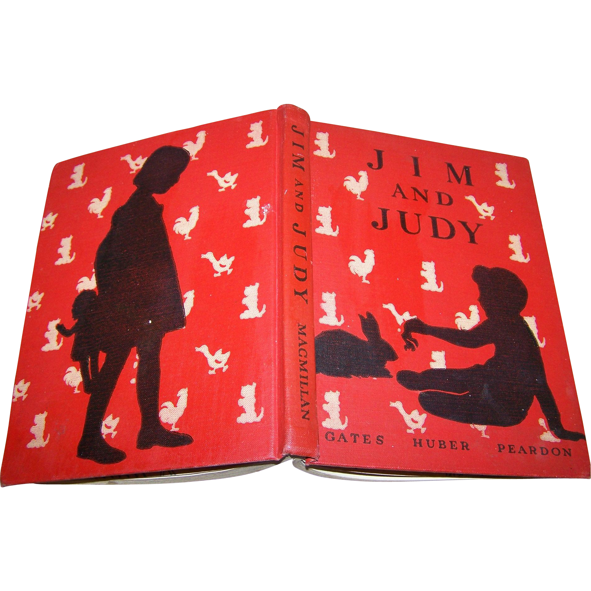 "Charming Vintage School Text Book Primer Reader "" Jim and Judy "" The MacMillan Company"
