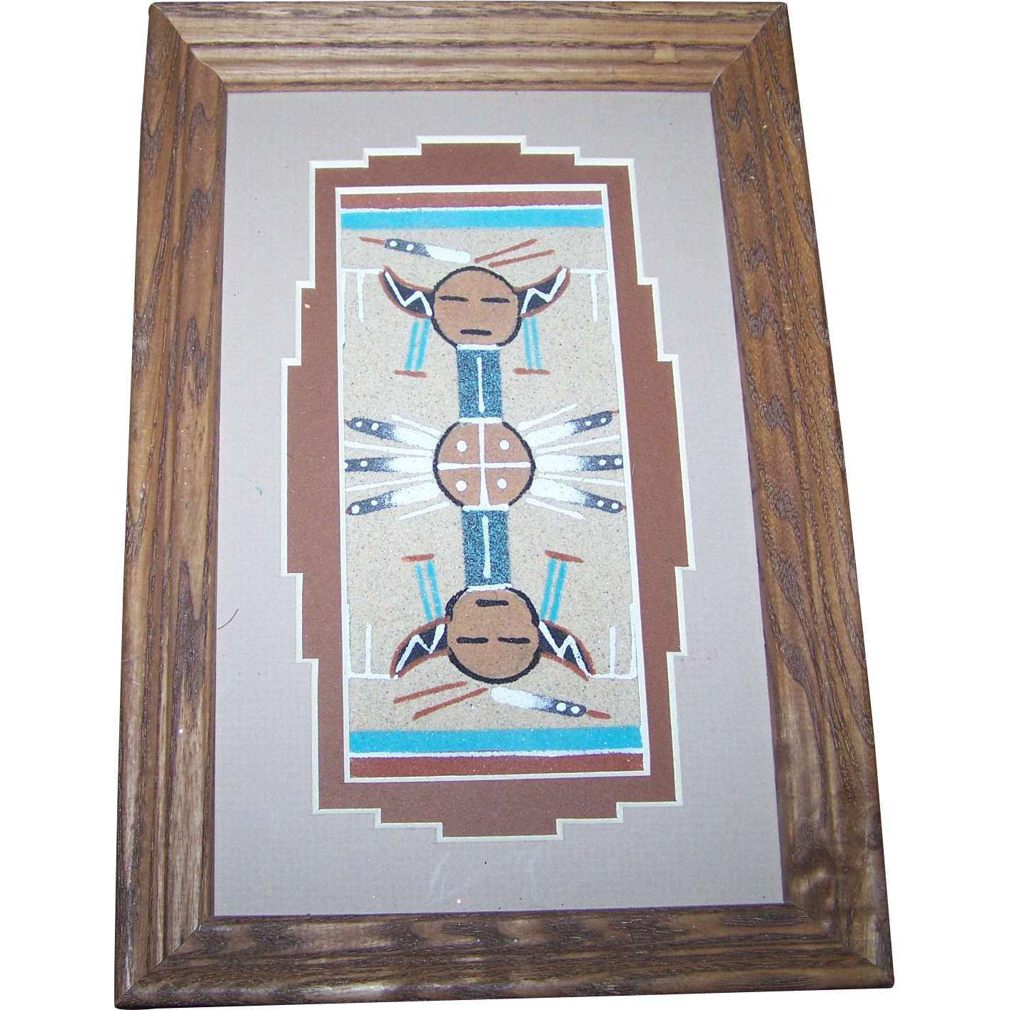 Authentic native american navajo sand painting artist glen for L furniture warehouse victoria bc