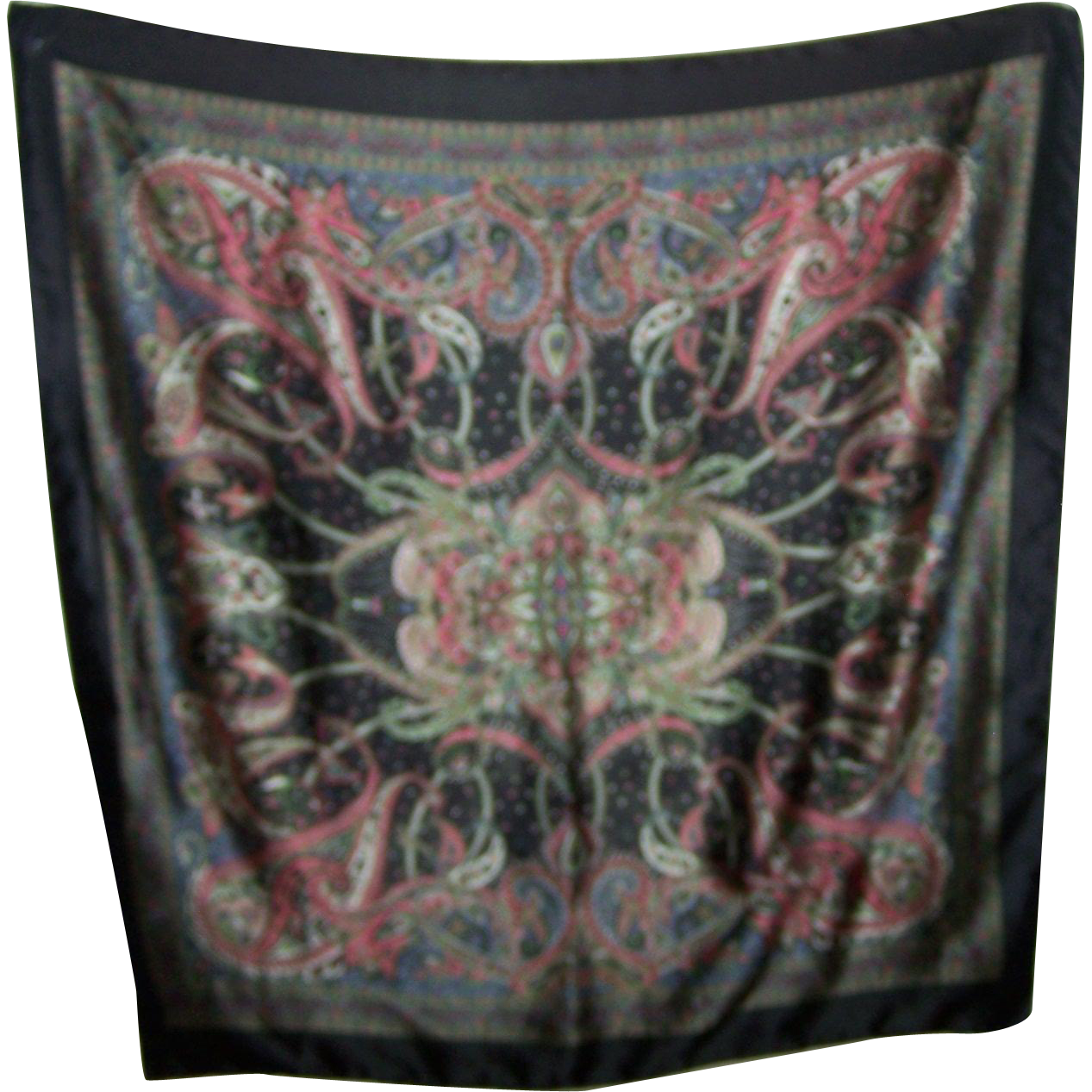 Lovely Large Decorative Floral Paisley Print Ladies Fashion Scarf
