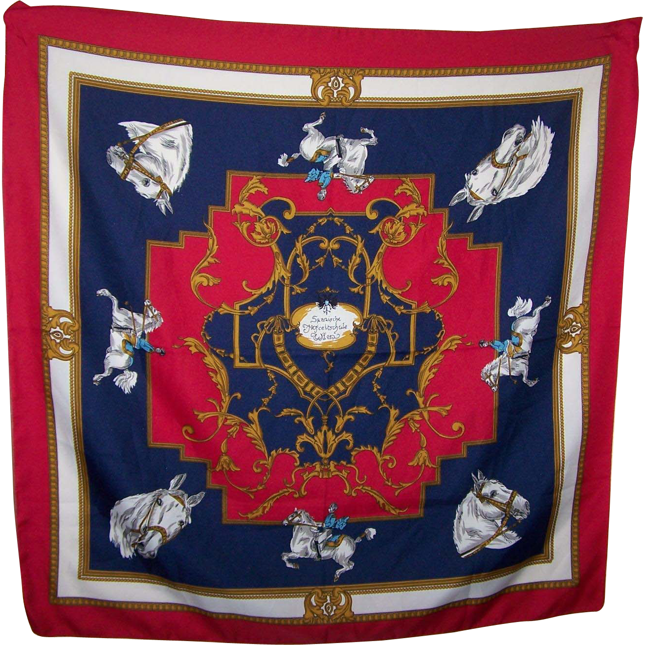 Horse Themed Souvenir Scarf Spanische Hofreitschule Wien  The Spanish Riding School of Vienna