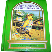 "Charming Hard Cover Children's Book "" Little Easter Chick's Easter Treasure """
