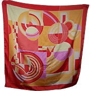 Wearable Art Interesting Geometric Print Large Fashion Scarf Wearable ART