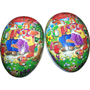 Charming Vintage NESTER Easter Egg Paper Mache Candy Container Made in Germany