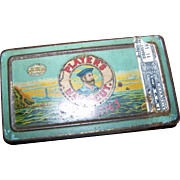 Vintage Tin Litho Advertising Box  50 Players Navy Cut Cigarettes Tobacciana Collectible