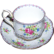 Royal Albert Bone China Teacup Saucer Set England Petit Point China