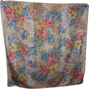 Made in Italy Silky   Polyester Honig Scarves Flower Ribbon  Bow Portrait Scarf