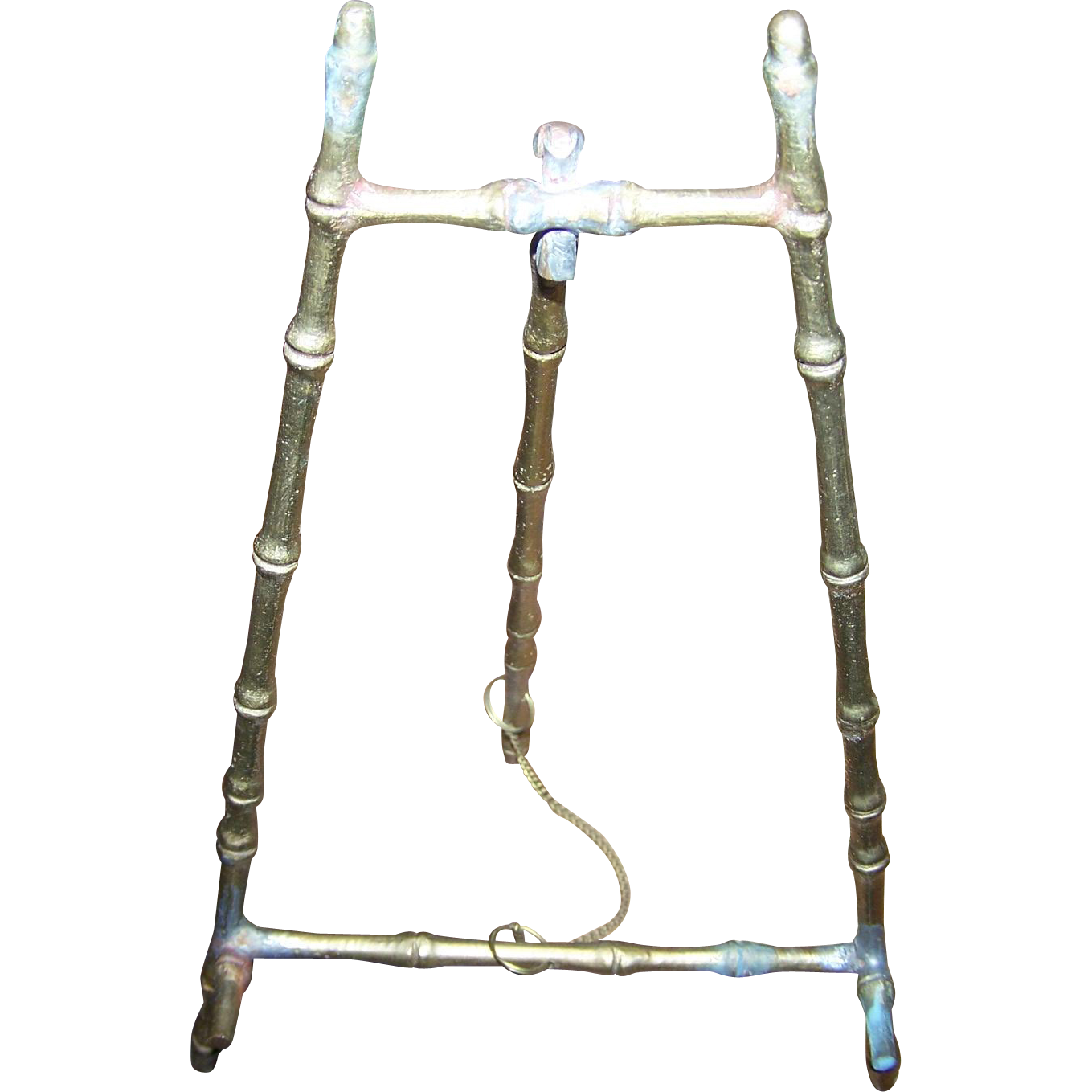 Lovely Vintage Brass Metalware Easel Back Style Picture Frame Photograph Small Plate Holder