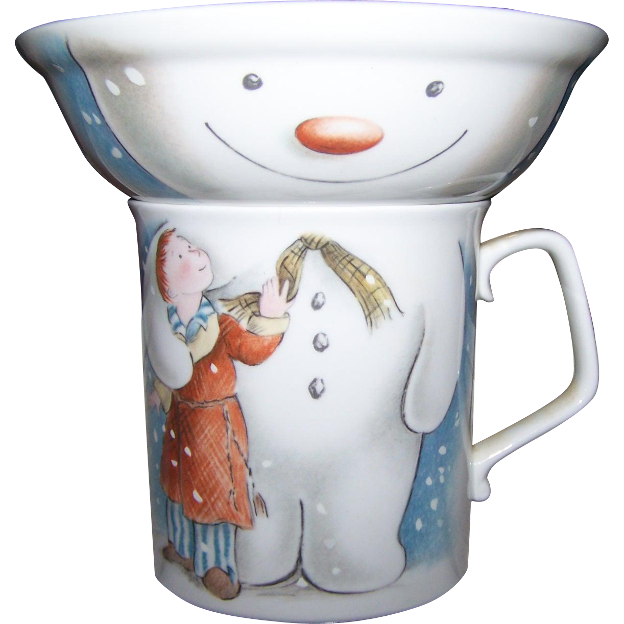 2 Piece Replacement Set Royal Doulton The Snowman Gift Collection Mug & Bowl Made in England