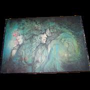 Artist Signed Susan Seddon Boulet 1990 Print To Board Wall Art Plaque Dreamworlds