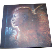 Wall Art Artist Wall Plaque Print to Board by Susan Seddon Boulet Mary Visitation 1980's Era