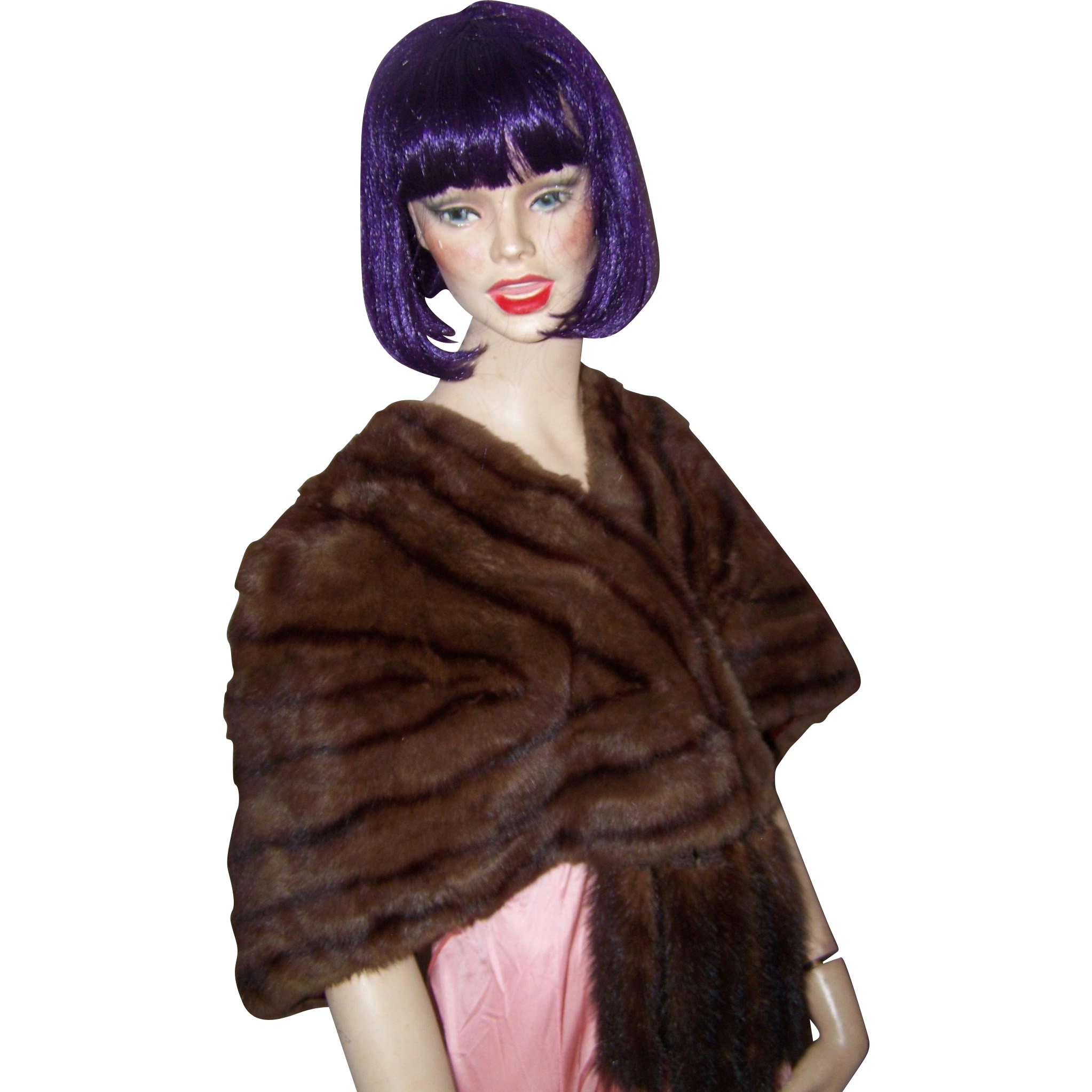 Stunning Vintage Mink Ladies Fashion Stole Capulet  Featuring Tails and Original Lining