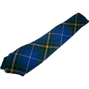 Gently Used Vintage 1960s Era  Nova Scotia Tartan Wool Tie