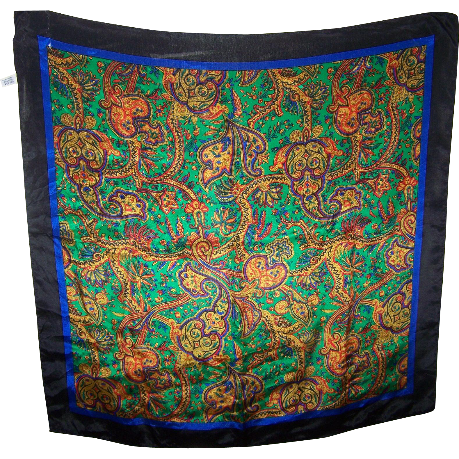 Lovely Quality Vintage  Fashion Scarf Paisley Pattern Made in Japan 100 % Silk