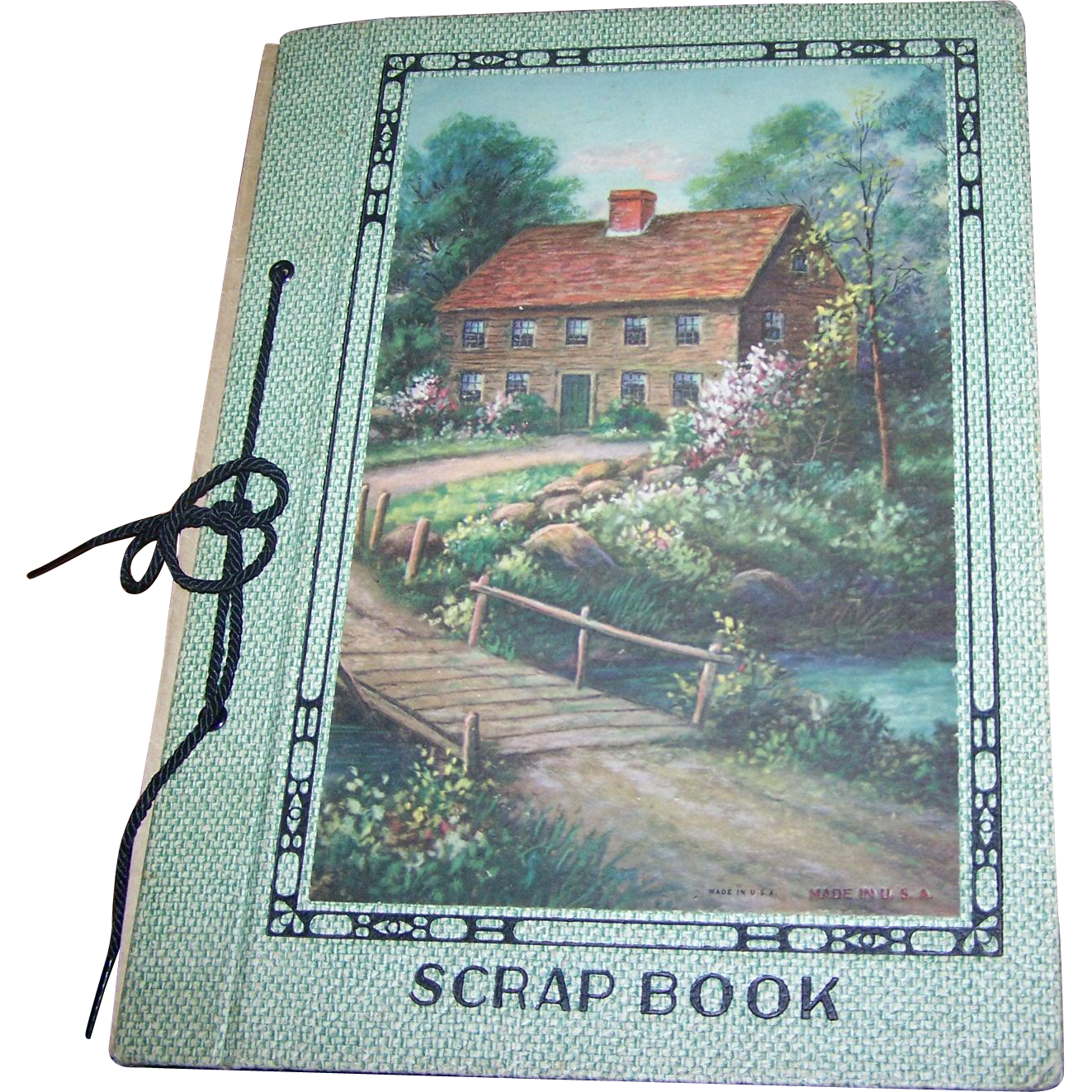 What A Charming Collectible Sentimental  Valentine 's Day Paper  Card Rescued Scrap Book