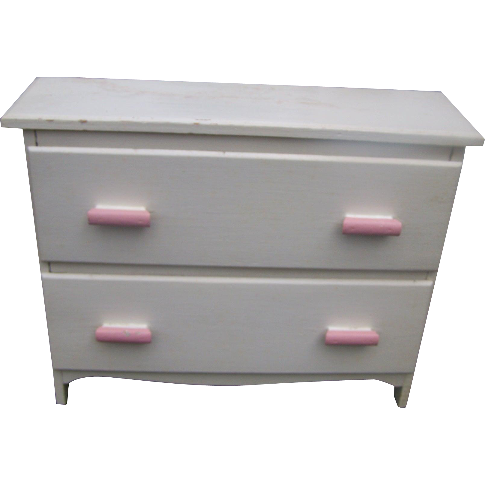 Wooden Hand Crafted Painted Dresser For Home Decor Accent Display or Great for Storage Prop or Toy