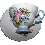 Delicate Rosina Porcelain Tea Cup & Saucer Set Made in England FLoral Themed