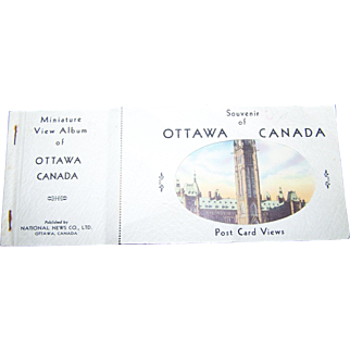A Vintage Miniature View Album of Ottawa Canada Published by National News Company
