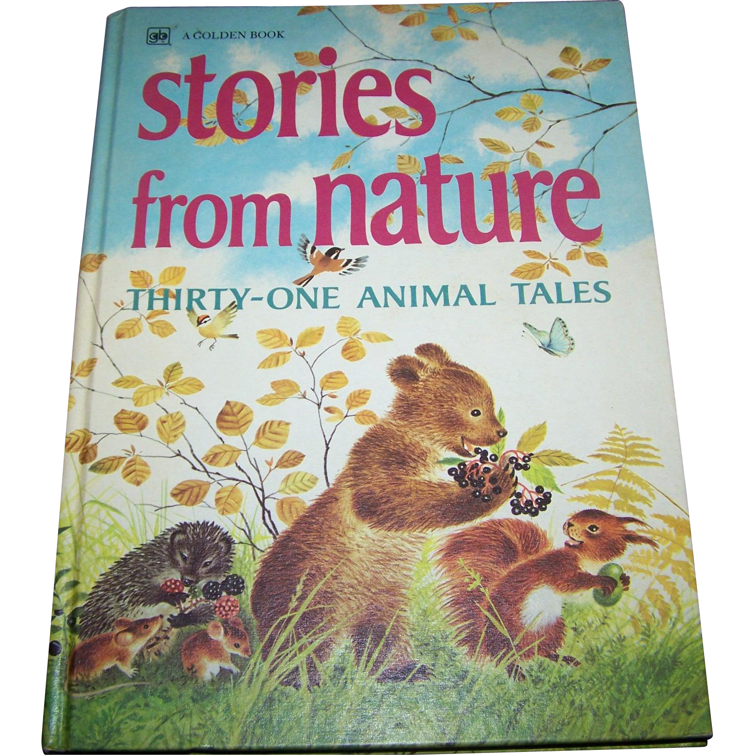 A Large  Golden Book Stories from Nature Thirty - One Animal Tales Children's Vintage Book