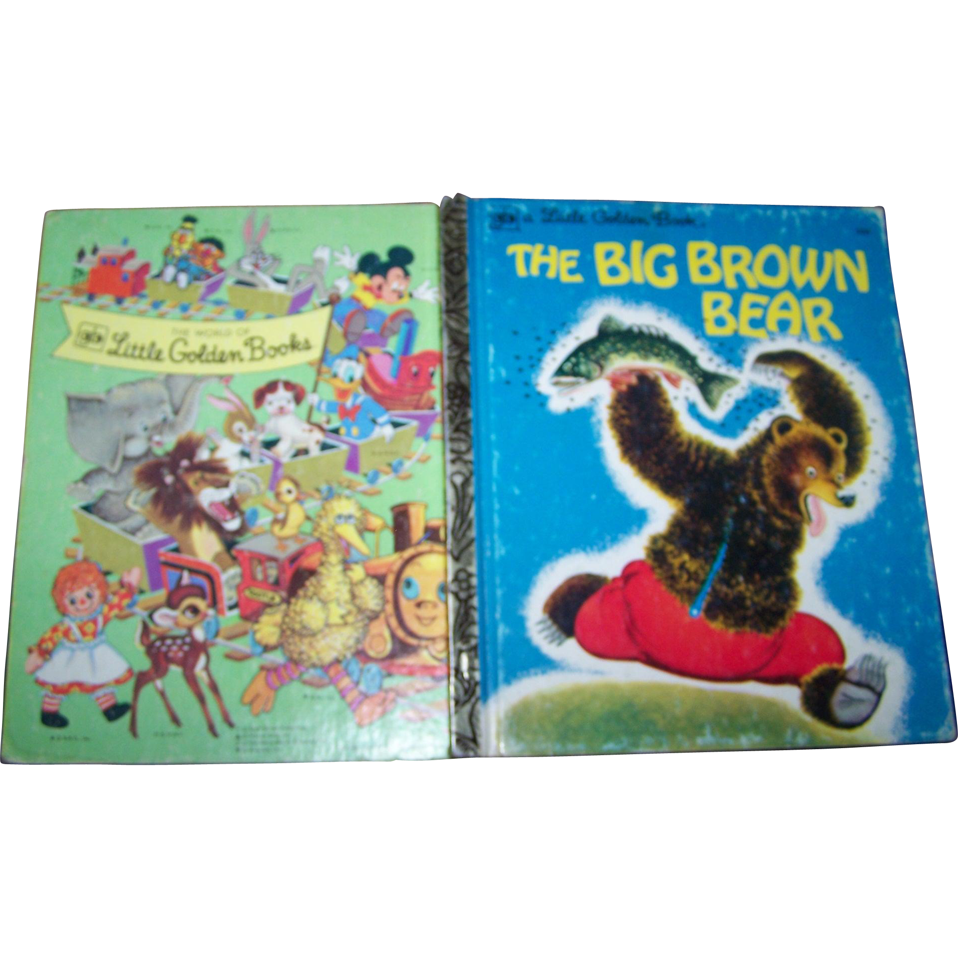 "Charming Children's Hard Cover a Little Golden Book Previously Loved "" The Big Brown Bear """