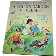 Hard over Children's Book Robert Louis Stevenson A Child's Garden of Verses