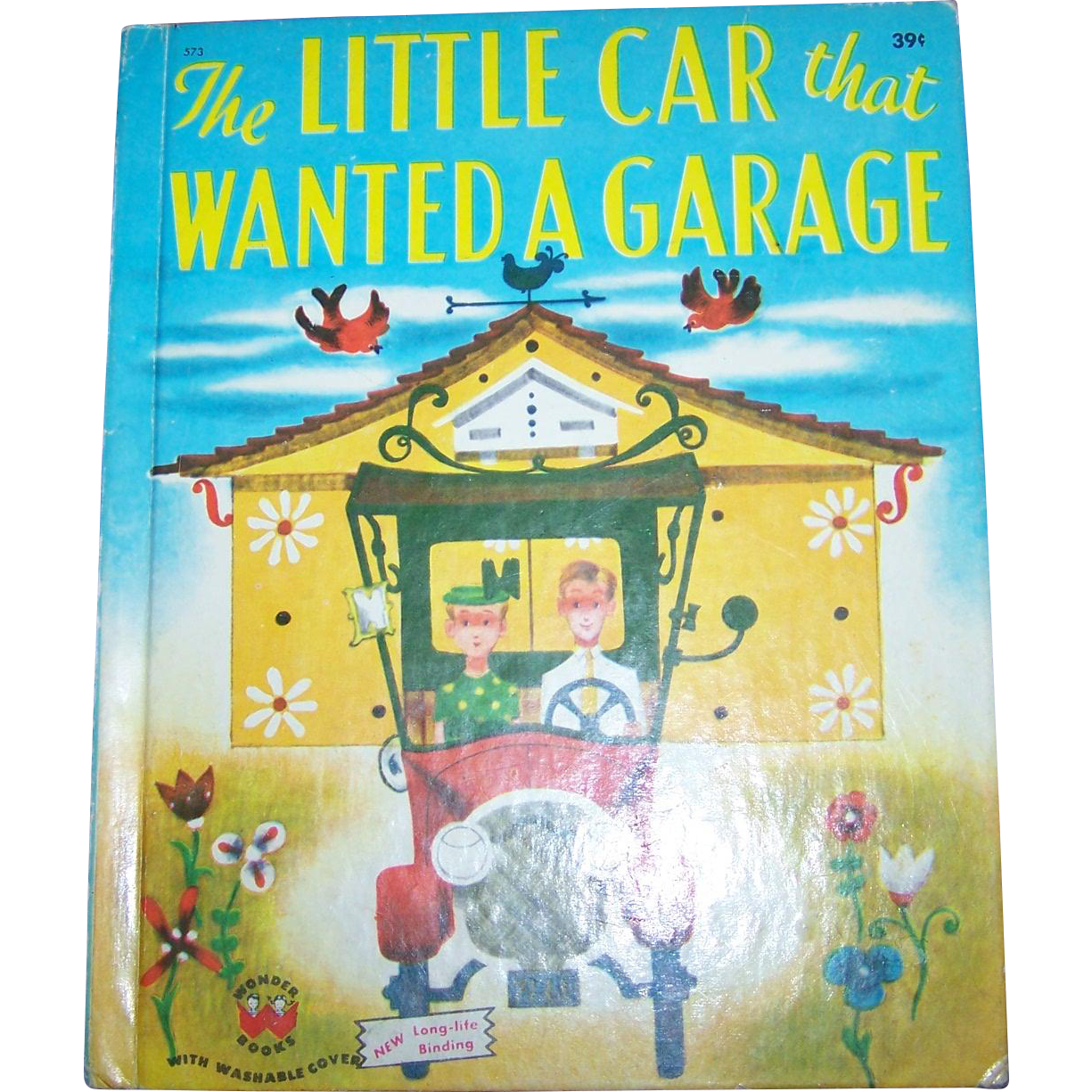 "Charming Vintage Children's Book by Catherine Woolley "" The Little Car That Wanted A Garage "" Wonder Books"
