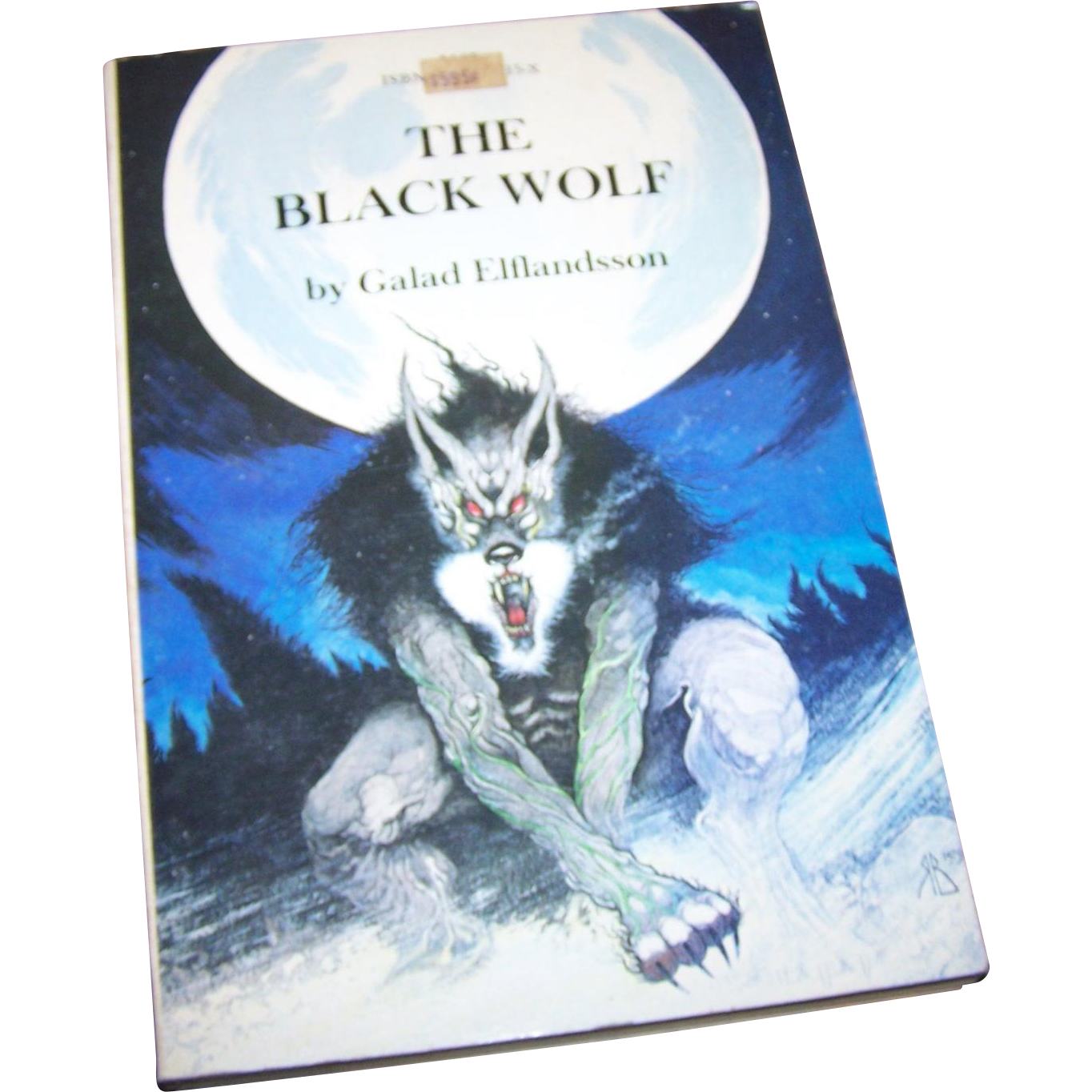 Soft Cover Book The Black Wolf  by Galad Elflandsson Centaur Books 1980 Author Signed