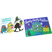 2  Children's Soft Cover Booklets Books The Witch's Christmas and Ghastly Ghostly Riddles