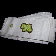 6 Webb's Belfast Irish Linen Dew Bleach Guest Towels Home Decor Accent