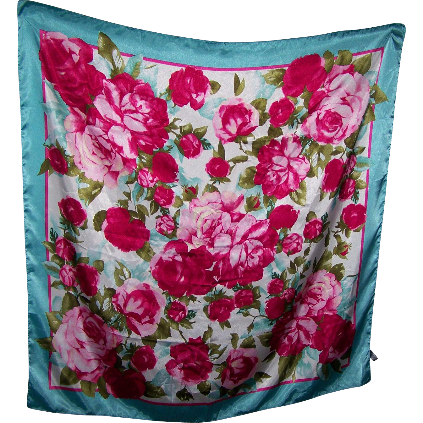 Calling All Rose Lovers A Lovely Large  Floral  Flower Print Ladies Fashion Scarf Wearable ART