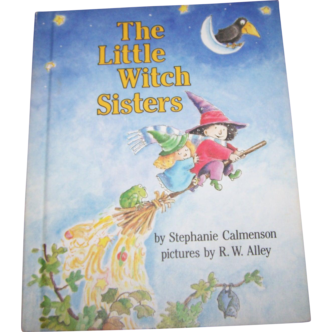 """Boo A Vintage  Halloween Inspired Children's Hard Cover Book """" The Little Witch Sisters """""""