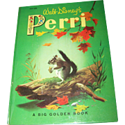 From The Walt Disney's  Motion Picture Over Sized Children's Book PERRI  about a little Squirrel Golden Press C. 1957