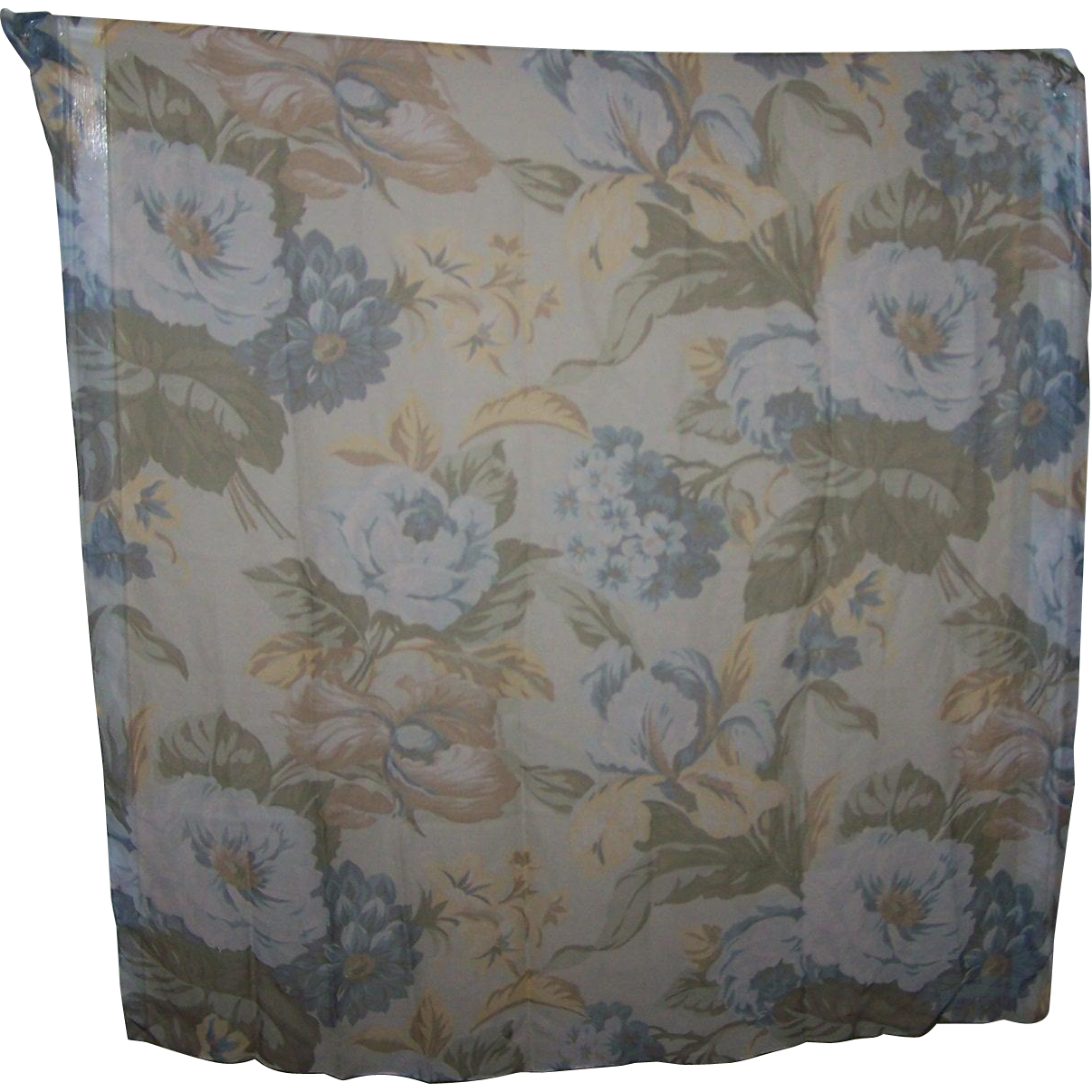 Delicate Sheer Chiffon Silk Designer Signed Anne Taylor Floral Themed Scarf