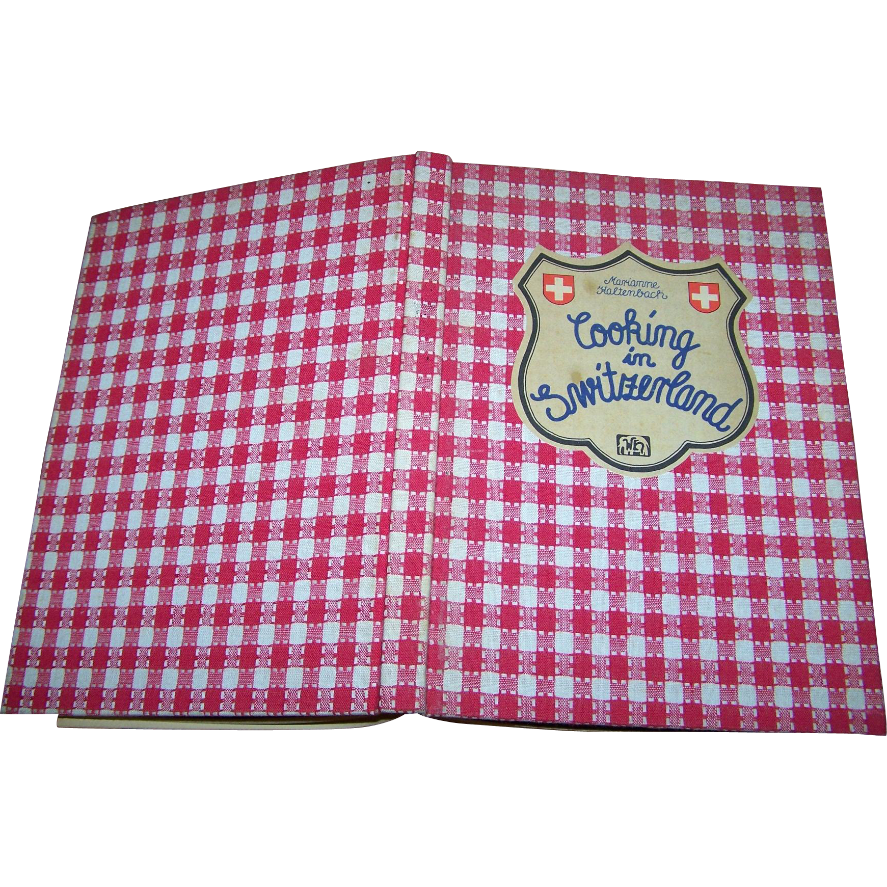 Fabric Book Covers Canada ~ Vintage hard cover cloth cook book cookbook quot cooking in