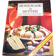 Hard Cover Collectible Book HOMEMADE is BETTER from Tupperware Home Parties