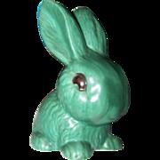 Vintage SylvaC Pottery Snub Nose Green Bunny Rabbit Figurine 1027