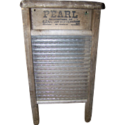Small Wood Advertising Washboard for Pearl Canadian Woodenware