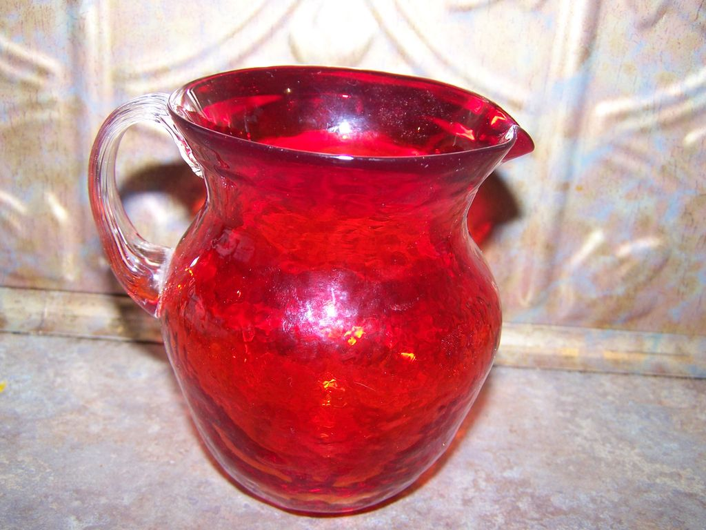 Vintage Amberina Glass  Pitcher Pontil Bottom