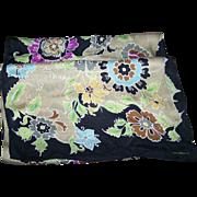 Long Rectangular Designer Signed Liz Claiborne Silk Fashion Accessory Scarf Floral Pattern