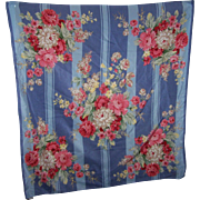 Designer Signed Club 7 Echo Silk Cotton Floral Fashion Accessory Large Scarf Wearable ART