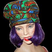 Charming Vintage Colorful Paisley Ladies Fashion Beret Style Hat